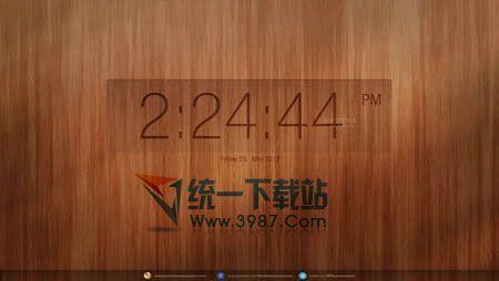 木质纹理时钟屏幕保护
